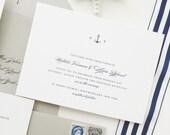 PAPER SAMPLE Natalie Nautical Wedding Invitation / Nautical Save the Date / Nautical Wedding Invitations / Navy Wedding Invitations