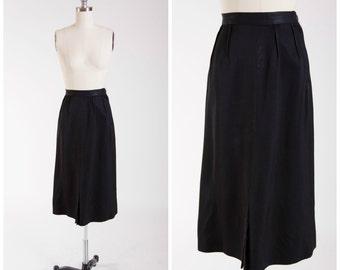 40s Vintage Skirt • Love in Black • Gabardine Vintage 1940s Skirt Size Small
