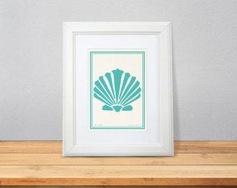 Seashell print-Coastal print-Beachy print-home decor-Ocean wall art-Sea life print-Nautical print-seashell wall art-by NATURA PICTA-NPAG040