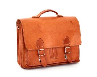 Messenger bag leather backpack leather rucksack leather school bag briefcase EMILE