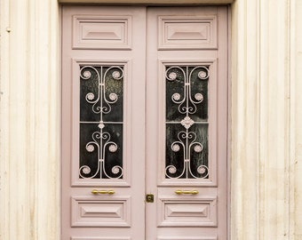 Paris Fine Art Photography - Paris Pale Pink Door, Travel Photograph, Paris Architectural Print, French Home Decor