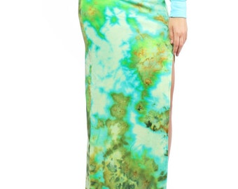 Hand Dyed Jungle Ice Maxi Skirt