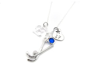 Field Hockey Necklace, Field Hockey Gift, Field Hockey Jewelry, Gifts for Field Hockey, Field Hockey Player, Field Hockey Team Gift