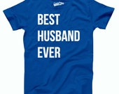 SALE Mens Best Husband Ever ROYAL T-Shirt perfect anniversary gift for your hubby, wiffey love, just married shirt S-5Xl
