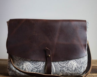 laptop crossbody bag-leather laptop crossbody bag-leather crossbody bag-crossbody purse-everyday bag-messenger bag-grey