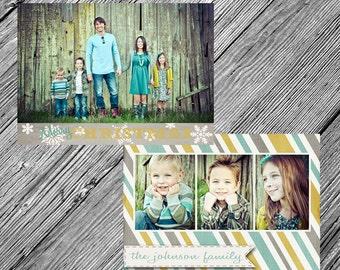 Christmas or Holiday Photo Card {Printable • Two-Sided • Customizable • DIY}