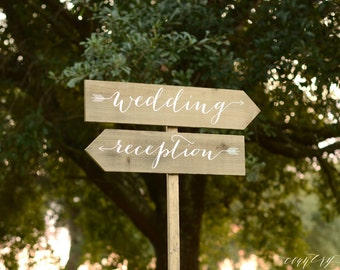 Custom Wedding Signs, Wooden Wedding Signs, Custom Wedding Signs, Reception signs, Arrow Signs, Wedding Name Signs, Beach Wedding