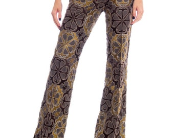 1990s Gianfranco Ferre Fully Embroidered Trousers Size: S