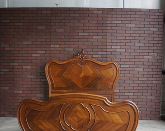 Antique French Rococo Bed / French Bed / Antique Double Bed / French Full Bed Frame