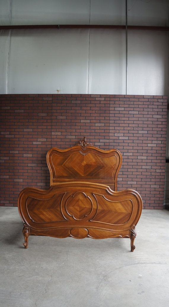 Antique French Rococo Bed / French Bed / Antique Double Bed
