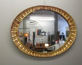 60's gilt SUNBURST mirror Italian