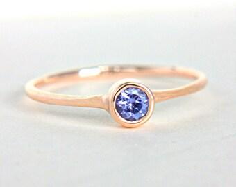 Rose Gold Tanzanite Ring 14k Gold Natural Tanzanite Rose Gold Ring Tanzanite Engagement Ring Alternative Engagement Ring December Birthstone