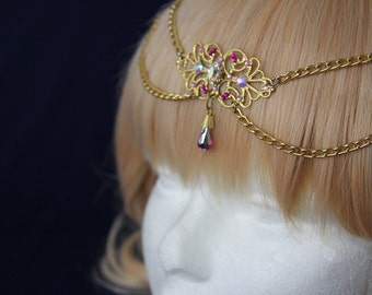 Fairy Queen circlet - Golden tiara