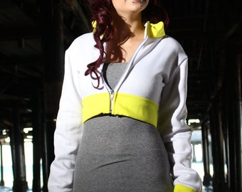 Yellow Trim Pokemon GO Trainer Cosplay Costume Hoodie Cropped Jacket