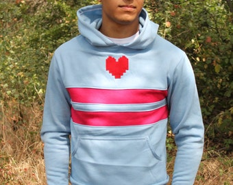 Undertale Player Cosplay Costume Frisk Sweater Hoodie Jacket