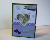 Handmade Card - Each day is a Gift - Heart and Rhinestones