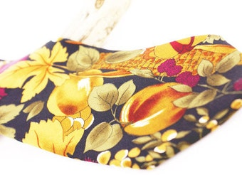 Shop Pick! Vintage silk necktie by Pierre Cardin. Amazing colors with berry & leaf design in magenta, brown and black