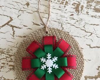 Burlap christmas etsy for Burlap christmas curtains