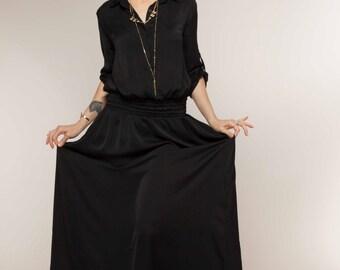 Black Maxi Dress, Bohemian Dress, Bridesmaid Dress, Evening Gown, Holiday Dress, Summer Dress, Holiday Clothing, Womens Fashion, Boho Dress