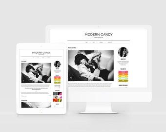 Responsive WordPress Theme — WordPress Blog Template — Modern WordPress — Neon Template — Fashion Blog Design — Bold Template / Candy