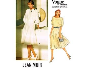 Vogue Designer Original, Women's Dress by Jean Muir Sewing Pattern Misses Size 10 Bust 32 1/2 Uncut Vintage Vogue 1359