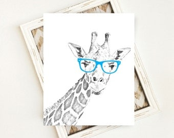 Nursery Decor, Giraffe Art, Safari Nursery Art Print, Giraffe Nursery Art Print, PRINTABLE Art, 8x10 Digital Download