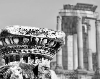 Rome Italy Art, Black and White Fine Art Photography, Rome Photography, Roman Forum, Ruins