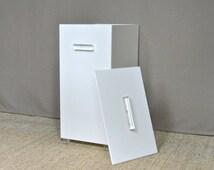 Mid Century Lucite & Plexiglass Laundry Hamper (2 Avail), Trash Bin, Lucite Box, Storage Bin, Lucite Handles