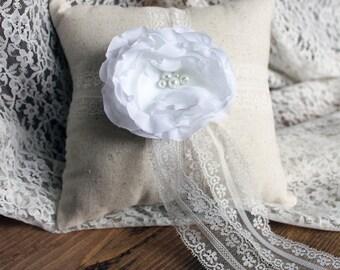 Ring Bearer Pillow, Shabby Chic Ring Bearer, Rustic Ring Bearer Pillow, Rustic Ring Bearer, Shabby Chic Wedding, Lace Ring Bearer Pillow