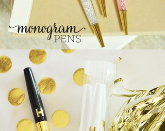 Gold Desk Accessories Gold Pen Personalized Pens Custom Pens Monogram Pens  Gold Office Gifts Boss Gifts Supplies (EB3138) - set of 3 PENS