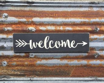 Welcome Arrow - Handmade Wood Sign