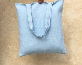 Minimalist linen tote bag / Finest quality linen / Hand sewn