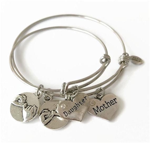 Mother Daughter Bracelet Set Mother Daughter Jewelry Mother
