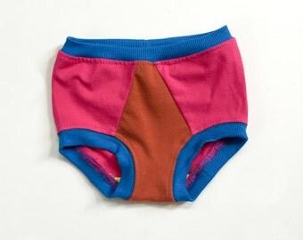 toddler underwear | magenta colorblock