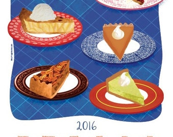 2016 Tea Towel Calendar - Slices of Pie