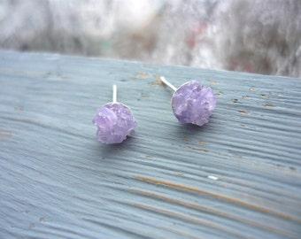 Everyday earrings Amethyst earrings Stone stud earrings Small studs Amethyst stud earrings Silver studs Amethyst stone studs Small earrings