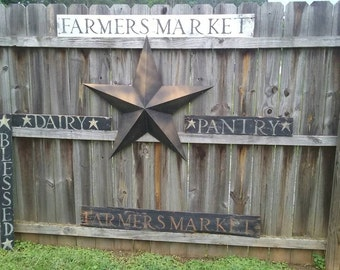 FARMERS MARKET Large Rustic Sign Farmhouse Country Homestead Shabby UpCycled Cottage Vintage Chic