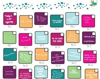 30 Day Challenge Goal Calendar