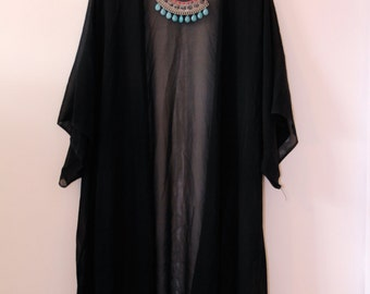 Longline Chiffon Kimono One Size Other Colours Available