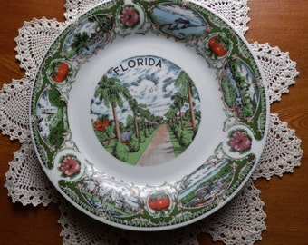 FLORIDA STATE SOUVENIR Plate with Beautiful scenes of the great state of Florida!!