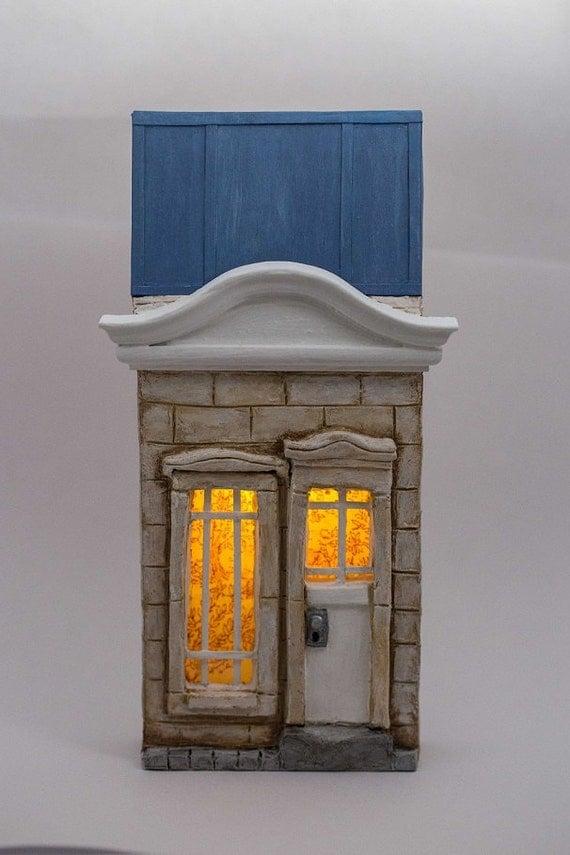 Fairy tale door miniature facade by thelittlegreyrabbit on for Fairy door wall art