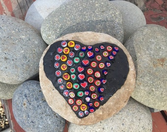 Mosaic Rock Made with Colorful Murano Millefiori