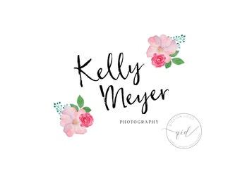 Floral Logo  Watercolor Logo  Boutique Logo  Premade Logo Design  Photography Logo  Rose Boutique Logo