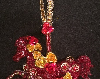 Miniature Carousel Horse Ornament