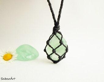 Fluorite pendant, healing stone jewelry, fluorite necklace, fluorite jewelry, green fluorite, heart chakra, crystal healing necklace, mint