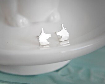 Sterling Silver Unicorn Earrings / 925 / stud earrings / gifts for her / hypoallergenic / stocking filler / unicorn gift / girls earrings