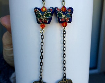 Butterflies of Love Asian Earrings