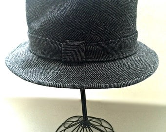 Vintage Fedora Hat Grey, Mallory by Stetson Size 7