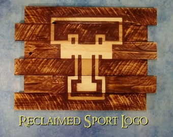 Texas Tech University, FREE UV protector, 30X23, Burnt wall hanging, Shou Sugi Ban, Charred wood, Man cave, Pallet wood, Wood Sports sign
