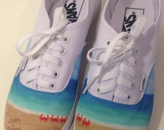 Custom Written in the Sand Beach Hand-Painted Shoes